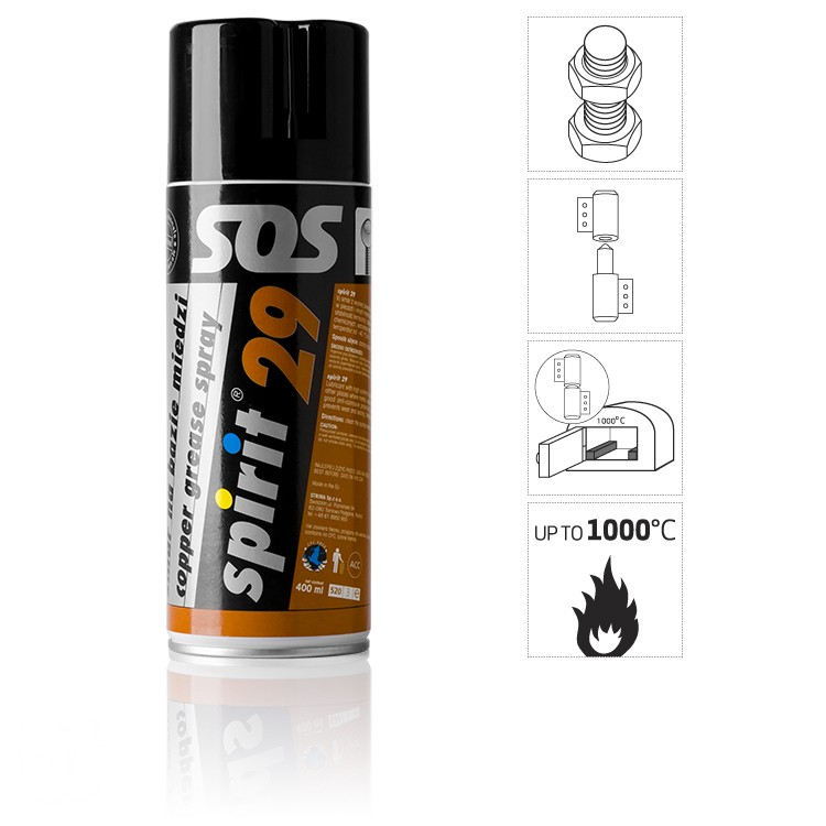 spirit 29 spray 400 ml copper grease spray